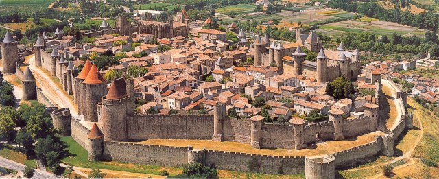 Aerial view of Carcassonne