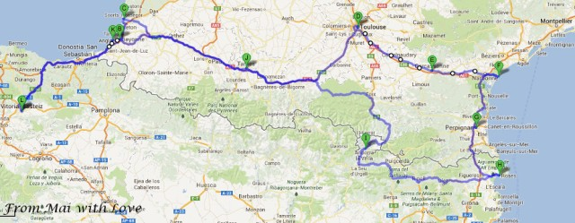Road trip around France
