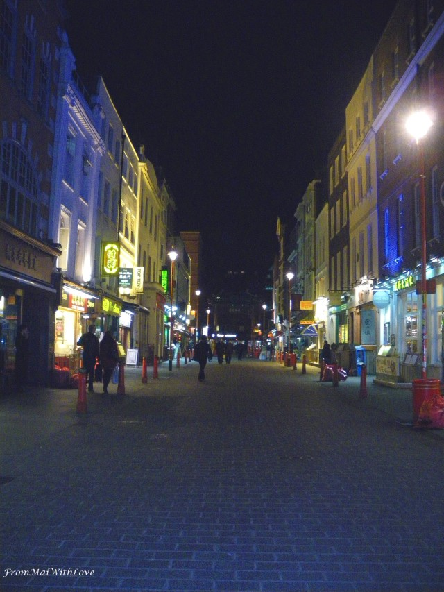 Chinatown London night