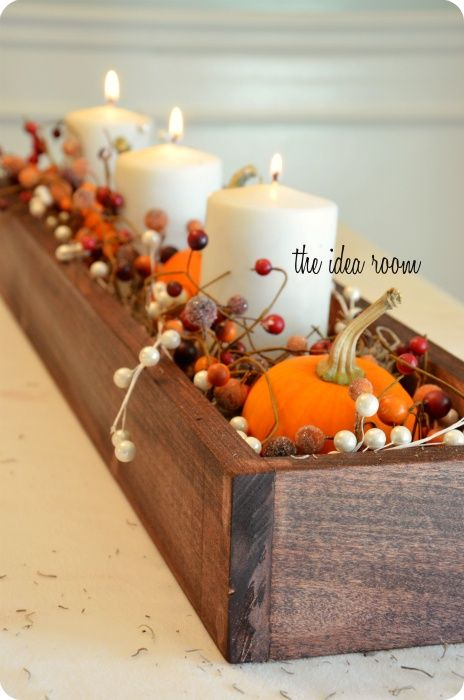 Fall center pieces inspiration