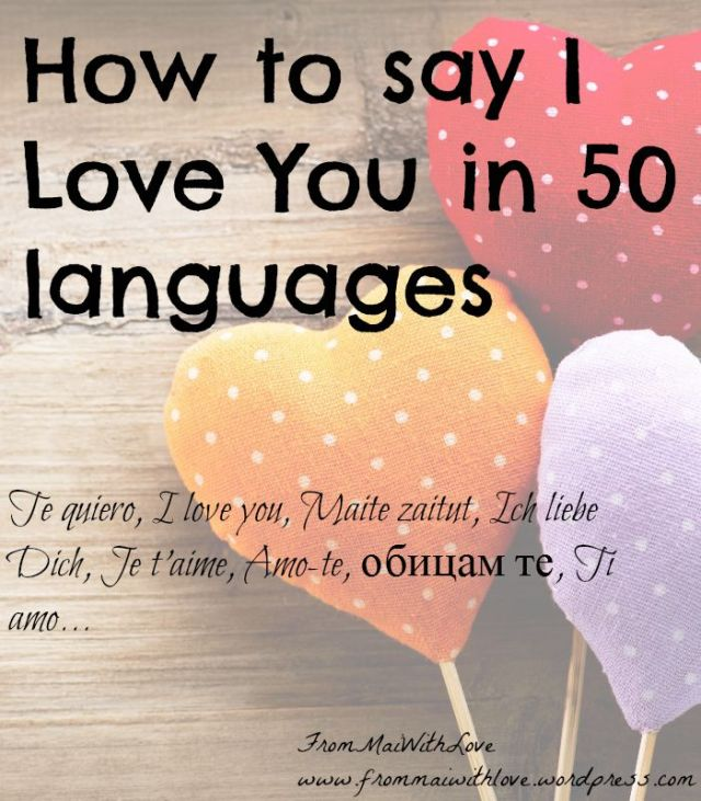How to say I love you in 50 languages
