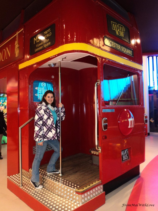 M&M shop London Red Bus