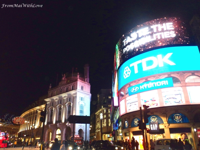 Picadilly Circus London at night