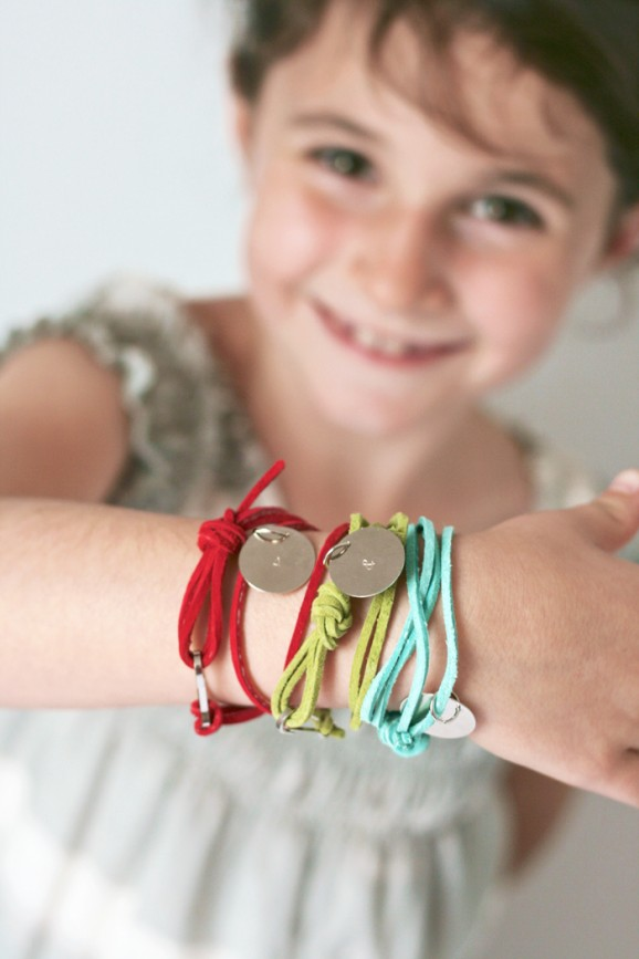 Stamped friendship bracelets