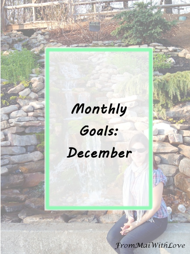 Monthly goals - December