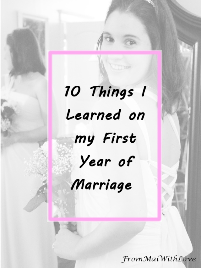 10 Things I Learned on my First Year of Marriage