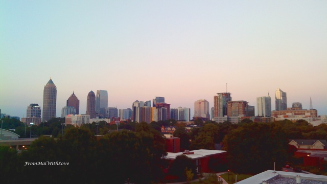 Downtown and Midtown Atlanta from Georgia Tech