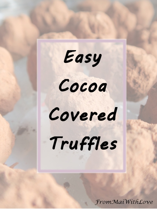 I love cooking (mostly deserts) and sometimes I need chocolate (who doesn't, right?). I realized I had chocolate and one banana and I decided to try this. What a great decision!  Here is how to cook the truffles... Check it out at www.FromMaiWithLove.wordpress.com