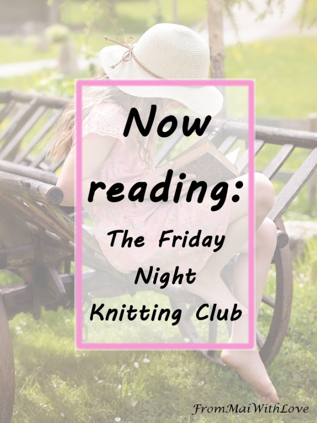 After mostly binge reading all the Harry Potter series I started the first book of The Friday Night Knitting Club trilogy by Kate Jacobs. It's the story of Georgia Walker, a single mom in NYC that opened a yarn store when her daughter was a baby. Her life changes when a few women start spending Friday evenings at the store. In a little time, the group of women begins to share their experiences and form a bond.